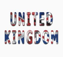 United Kingdom Word With Flag Texture One Piece - Long Sleeve