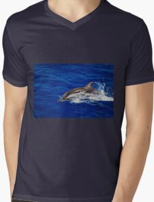 A wild free dolphin jumping  Mens V-Neck T-Shirt