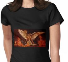 Phoenix bird from ashes Womens Fitted T-Shirt