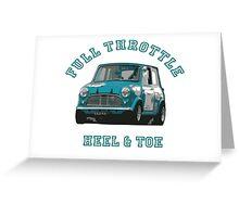 Austin Mini Full Throttle Greeting Card