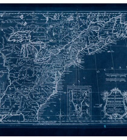 American Revolutionary War Era Maps 1750-1786 174 A new map of the British Dominions in North America with the limits of the governments annexed thereto by Inverted Sticker