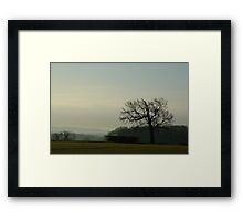 A crisp winter Morning walk Framed Print