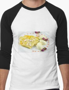 Dessert With The Taste of Summer Rose Men's Baseball ¾ T-Shirt