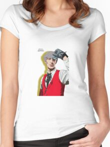 Persona 3 Akihiko Sanada Illustration. Women's Fitted Scoop T-Shirt