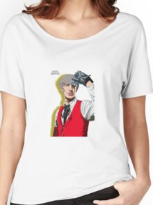 Persona 3 Akihiko Sanada Illustration. Women's Relaxed Fit T-Shirt