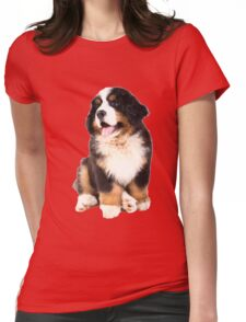 bernese mountain dog puppy Womens Fitted T-Shirt