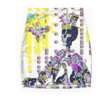 Skeleton Fashion with Butterfly Mini Skirt