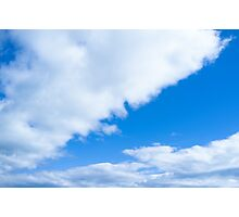 Blue sky and white clouds Photographic Print