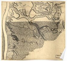 American Revolutionary War Era Maps 1750-1786 779 Plan of the encampment and position of the army under His Excelly Lt General Burgoyne at Swords House on Poster