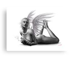 Rock Angel Pin-Up Girl Canvas Print
