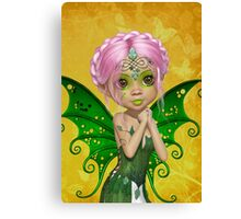 Green Fae Canvas Print