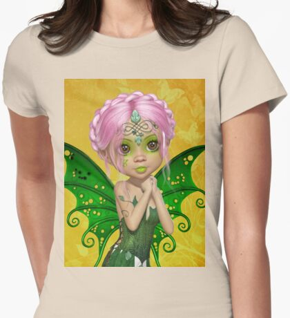 Green Fae Womens Fitted T-Shirt
