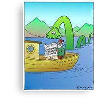 Extra! Extra! Loch Ness Monster a Myth! Canvas Print