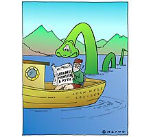 Extra! Extra! Loch Ness Monster a Myth! Photographic Print