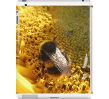 Bumble bee on sunflower iPad Case/Skin