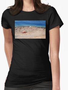 Beach Time Womens Fitted T-Shirt