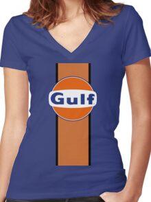 917 Le Mans McQueen Logo Women's Fitted V-Neck T-Shirt