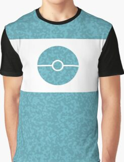 Pokemon CAMO Blue Graphic T-Shirt