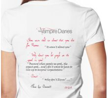 Vampire Diaries - Emotional Time Womens Fitted T-Shirt