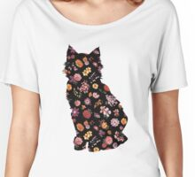 Floral Cat Women's Relaxed Fit T-Shirt