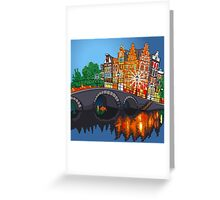 Colorful wonderful Amsterdam Greeting Card