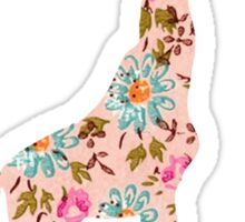 Floral Giraffe  Sticker