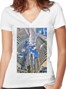 Eagle Street Women's Fitted V-Neck T-Shirt