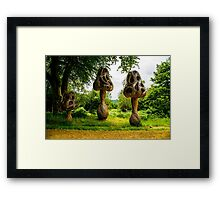 Wicker Mushroom Family Framed Print