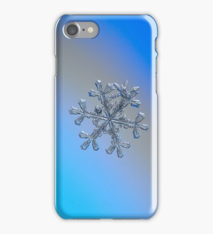 Three-in-one, real snowflake macro photo iPhone Case/Skin