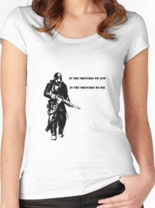 In the trenches Women's Fitted Scoop T-Shirt