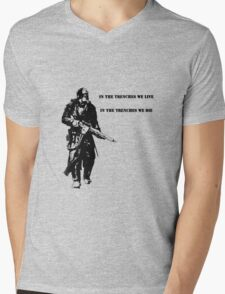 In the trenches Mens V-Neck T-Shirt