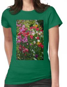 Tulips in my garden. Womens Fitted T-Shirt