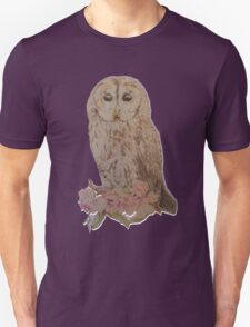 Owl and Flowers T-Shirt
