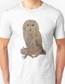 Owl and Flowers Unisex T-Shirt