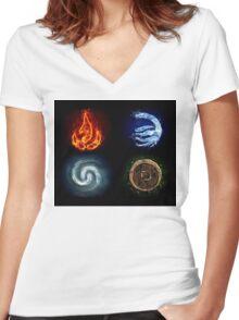 All element Avatar Women's Fitted V-Neck T-Shirt