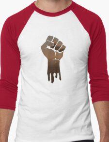 Black Power Men's Baseball ¾ T-Shirt