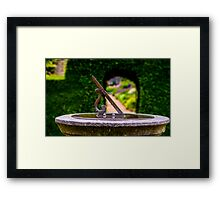 English country garden sun dial Framed Print