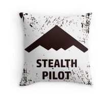 Stealth Pilot Throw Pillow