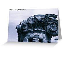 museum , architerture, column, history, pompeii Greeting Card