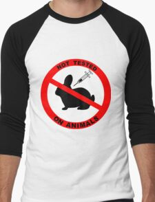 Not Tested on Animals  Men's Baseball ¾ T-Shirt