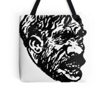 Creepy Caveman Head  Tote Bag