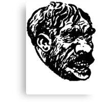 Creepy Caveman Head  Canvas Print