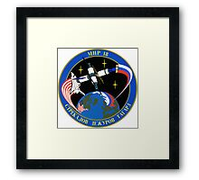 Soyuz 21 ISS Mission patch Framed Print