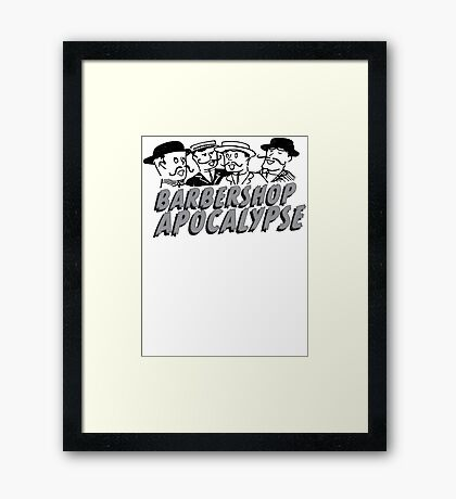 barbershop apocalypse  Framed Print