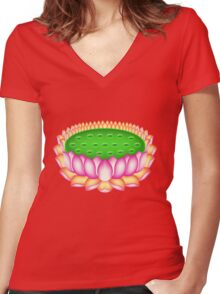 budha Women's Fitted V-Neck T-Shirt
