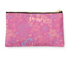Pink and blue pattern of little princess doodles Studio Pouch