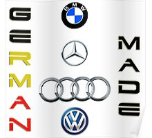 German made cars Poster