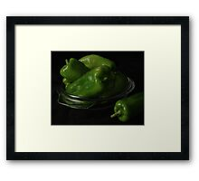 Cubanelle Peppers Framed Print