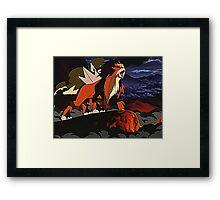 Legendary Entei Framed Print