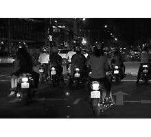 Saigon streets at night Photographic Print